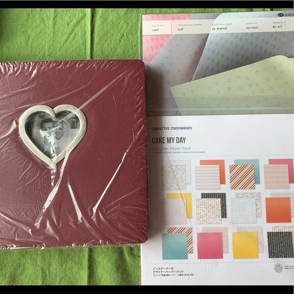 Creative Memories Heart Album paper packs wedding